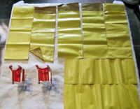 Barbie 1970's Doll Accessories Lot ~ 7 Sleeping Bags & 2 Folding Chairs