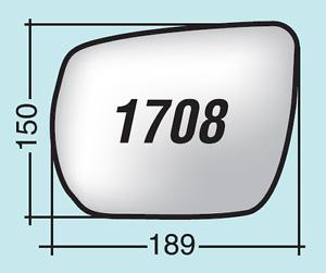 Vetro specchio retrovisore Suzuki Grand Vitara II dal 2005 in poi destro 1708D