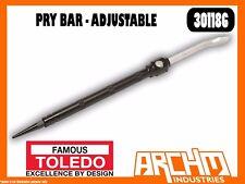 TOLEDO 301186 - PRY BAR - ADJUSTABLE - HEAVY DUTY TAPERED PODGER END BOLT HOLES