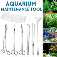 Stainless Steel Aquarium Tools Aquascaping Tank Aquatic Plant Tweezers  /-