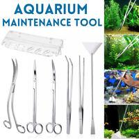 Stainless Steel Aquarium Tools Aquascaping Tank Aquatic Plant Tweezers  /-