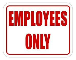 Employees Only Sign Business Store Office Door Wall Self Adhesive Message signs