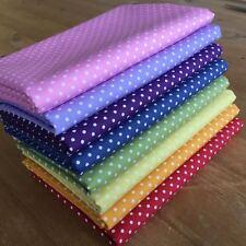 RAINBOW FABRIC BUNDLE 100% cotton FQ Bundle ~ 8 pieces PINSPOTS COLOURS