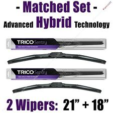"Matched Set of 2 Hybrid Wipers 21""+18"" Trico Sentry Wiper Blades - 32-210 32-180"