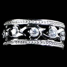 Band Ring_Sz-9_925 Sterling Silver #02_Caviar_Cz Vine Swirl Eternity
