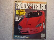 Road & Track 2001 May Dodge Viper Lincoln LS Mercedes C Infiniti Q45 Mazda ES