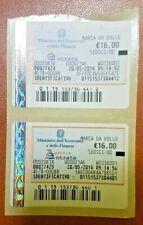 MARCA DA BOLLO TELEMATICA € 16,00 - 20 MAG. 2016 - NUOVA VALIDA - 1 DISPONIBILE