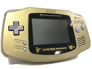 Nintendo Game Boy Advance Pokemon Center New York GOLD Console System GBA MINTY