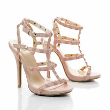 f196e78ed59 NEW Women Gladiator Strappy Caged Ankle Strap Pump Stiletto High Heel Shoes