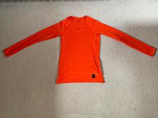 Nike Pro Hypercool men's long sleeve top   orange   medium   brand new