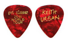 Keith Urban Red Pearl Guitar Pick - 2011 Get Closer Tour