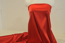 "STRETCH SATIN FABRIC RED SHINY SOFT 52""  BY THE YARD"