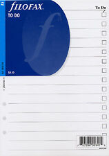 Filofax A5 size To Do (Don't Forget) Notepaper Sheets Refill Insert 342211
