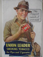 "Authentic 30's Union Leader Tobacco 32"" x 44""* Store Size Advertising  Poster"