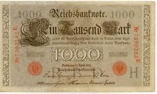 ALLEMAGNE GERMANY 1000 M reichsbanknote 1910 état voir scan 282