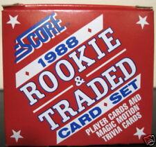 1988 Score Traded Baseball Set  Biggio Alomar Rookies