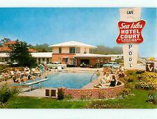 Vintage Post Card Sea Isles Hotel on Beach phone 4-1601 Gulfport Miss  # 4258