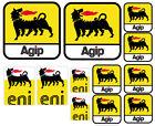 6 PVC Aufkleber Satz Eni Agip Racing Öl Logo Sponsor Auto Moto Vinyl Sticker Set