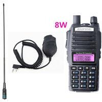 Baofeng UV-82 Real 8W Dual Band Walkie Talkie NA-771 Antenna + uv-82 Speaker Mic