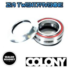 Colony Integrated BMX Sealed Bearing Headset /& Top Cap BLACK 55gms