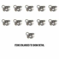 16g Clear Dermal Anchors Body Jewelry Press Fit Gem lot of 22 Tops & 22 Bottoms