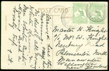 AUSTRALIA : 1914 Picture Post Card from Thursday Island to New Zealand. Scarce.