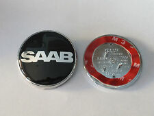 SAAB 68 mm Cofano Badge 3 PIN ANTERIORE 93 95 9-3 9-5 2003-2010 Nero NEVS Limited