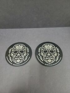 Brand New Avion Tequila Stainless Steel Coasters (2 pc.)