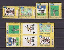 s6577) ARGENTINA 1994 MNH** W.C Football'94 - CM Calcio 4v + 4v label