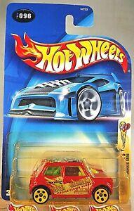2003 Hot Wheels #96 Crazed Clowns 2/5 MORRIS MINI Red w/Yellow 5Dot Spoke Wheels