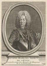 RARE GRAVURE ANCIENNE EUGÈNE FRANCOIS PRINCE DE SAVOIE par C ROY 20 X 15 cm