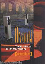 Prospekt Audio Physic Avanti Lautsprecherboxen brochure Loudspeakers 2002 GB