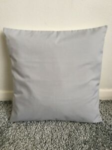 """NEW 10"""" PLAIN SILVER GREY CUSHION COVER PILLOW BED SOFA MORE COLOURS SIZES AVAIL"""
