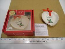 Lenox American by Design Christmas Holiday Holly Noel Sentiment Heart Dish - Nib