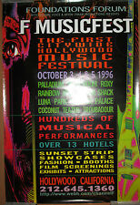FOUNDATIONS FORUM MUSIC FESTIVAL 1996 promo poster, 24x36, Los Angeles, metal