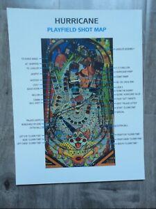 Hurricane Promo Pinball Machine Rules & Shot Map Mint