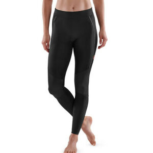 Skins Womens Series 5 Long Tights Bottoms Pants Trousers Black Sports Running