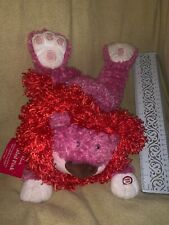 Hallmark Tickled Pink Red Pink Lion Sound Plush New Nwt Read ( Tag Tattered)