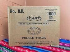 Dart 8Jl Plastic Lids, for 8oz Hot/Cold Foam Cups, Vented Case of 1000