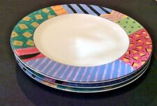 FABERWARE BY RETRONEU AKU #202 LOT OF 3 DINNER PLATES DISC. COLORFUL PATTERN!!!