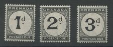 Grenada SGD11,13,14 1921 1d to 3d Postage Due Mounted Mint P14