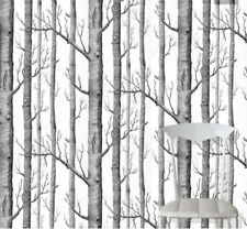 COLE & SON NEW CONTEMPORARY WOODS WALLPAPER BLACK / WHITE - 69/12147