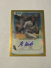 Keenyn Walker 2011 Bowman Chrome Gold Refractor Auto Rc SP 47/50 Mint White Sox