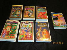 Walt Disney Masterpiece Collection VHS lot of 7 videos
