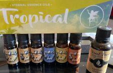 Tropical Set of 7 Eternal Essential Fragrance Oils - Coconut Cream,Bay Rum