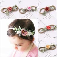 Flowers Newborn Baby Girl Headband Elastic Nylon Infant Turban Accessory Gift