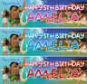 2 X personalized moana birthday banner chilidren nursery kids party decoration