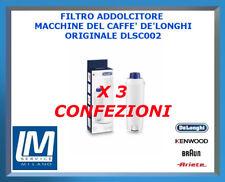 3 X FILTRO ADDOLCITORE MACCHINE DEL CAFFÈ ORIGINALE DE LONGHI DLSC002 5513292811