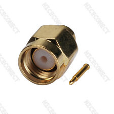 """SMA male plug Connector suitable cable Semi Rigid 0.141"""" RG402 Coaxial Cable"""