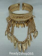 Upper Arm Bracelet Armlet Cuff Armband Feather Chain Bangle Harness Gold Tassels
